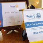 2018-19年度ロータリー財団寄付表彰が届きました。
